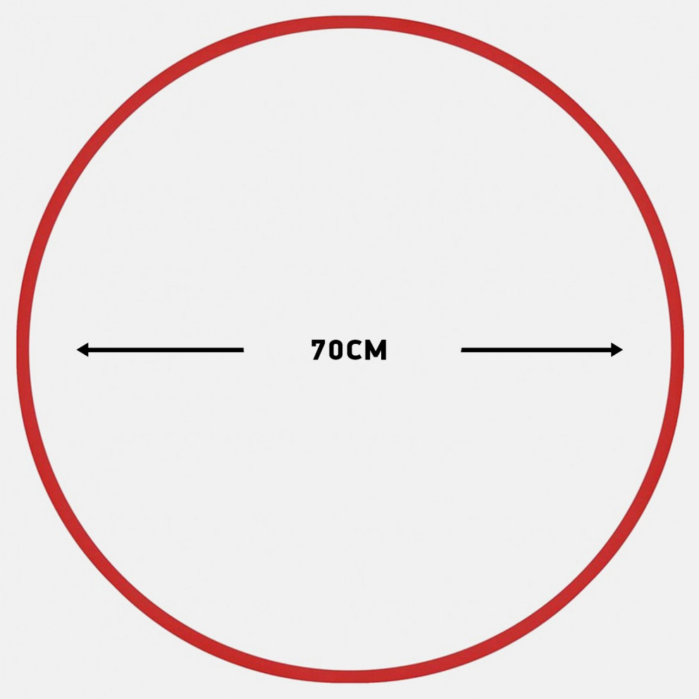 Amila Χούλα-Χουπ 70Cm - Φ18Mm - 140Gr, Κόκκινο