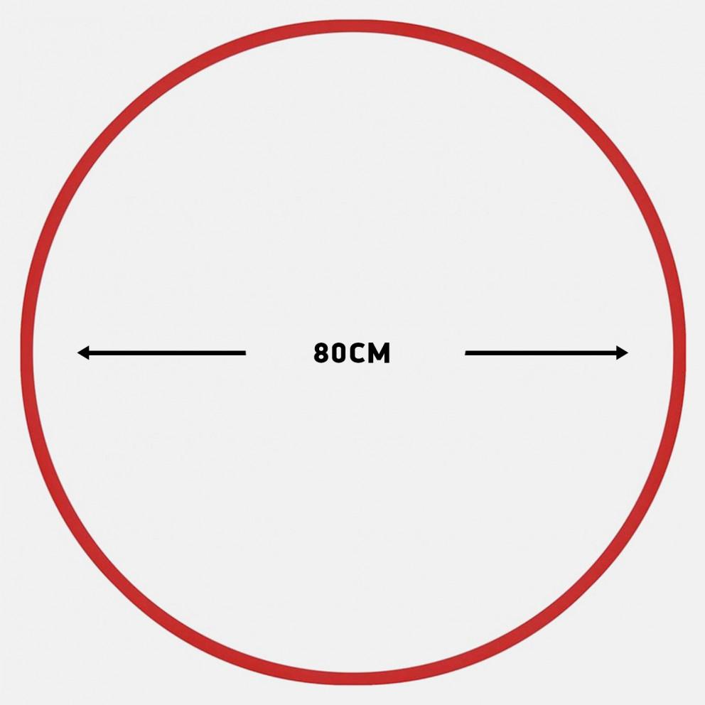 Amila Χούλα-Χουπ 80Cm - Φ19Mm - 330Gr, Κόκκινο