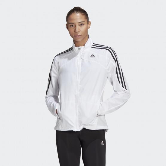 adidas Performance Marathon 3-Stripes Γυναικείο Αντιανεμικό Μπουφάν