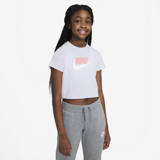 Nike Crop Top Futura Παιδικό T-Shirt