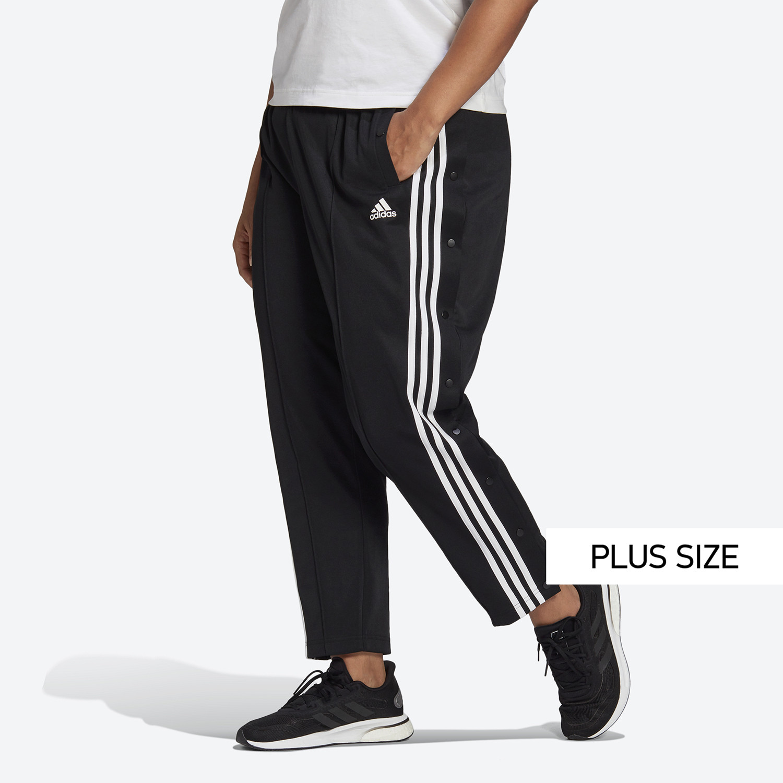 adidas Performance 3-Stripes Snap Pants ( PLUS SIZE) Γυναικεία Φόρμα (9000068213_1469)