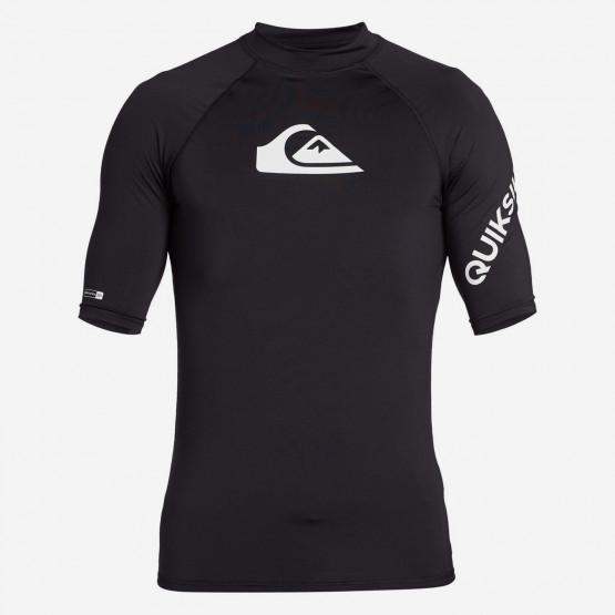 Quiksilver All Time Ανδρικό T-Shirt Προστασίας Από Τον Ήλιο