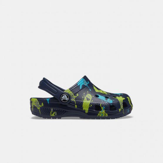 Crocs Classic Monster Print Kid's Sandals