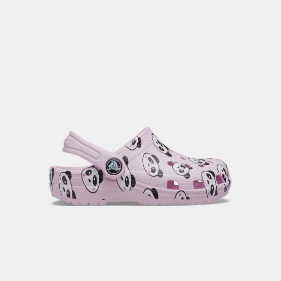Crocs Classic Panda Print Kid's Sandals