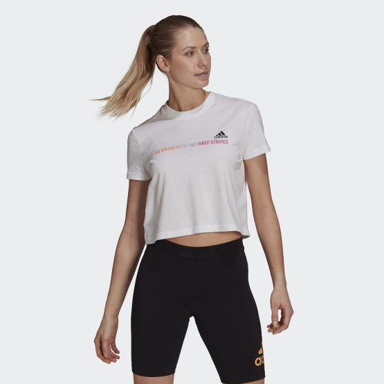 adidas Performance Essentials Gradient Cropped Γυναικείο T-shirt