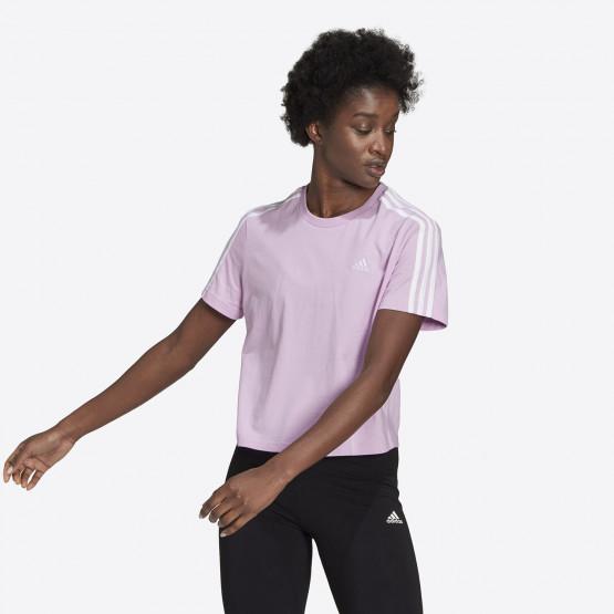 adidas Performance Essentials Loose 3-Stripes Cropped Γυναικείο T-shirt