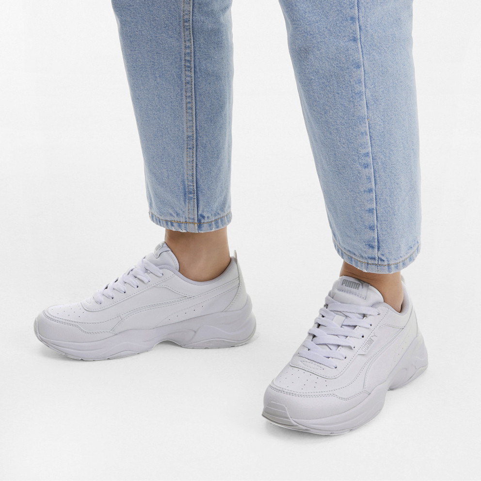 Puma Cilia Mode Women's Shoes White-Puma Silver 371125-02