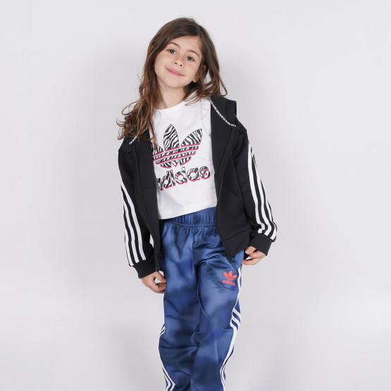 adidas 3-Stripes Full-Zip Παιδική Μπλούζα με Κουκούλα