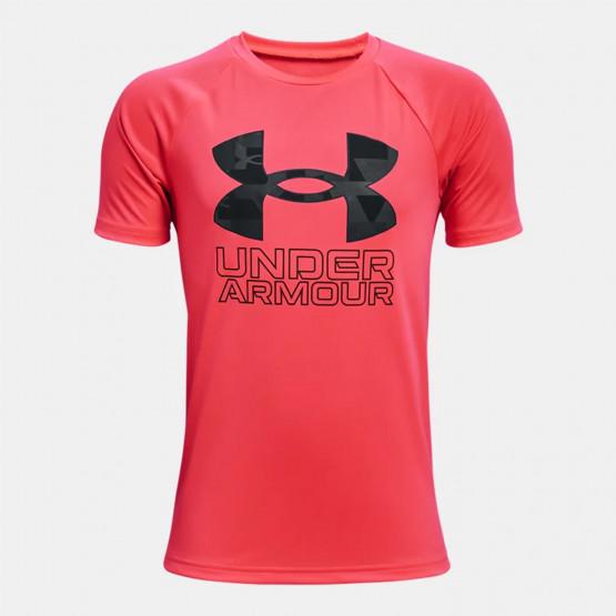 Under Armour Tech Hybrid Prt Fill Παιδικό T-shirt