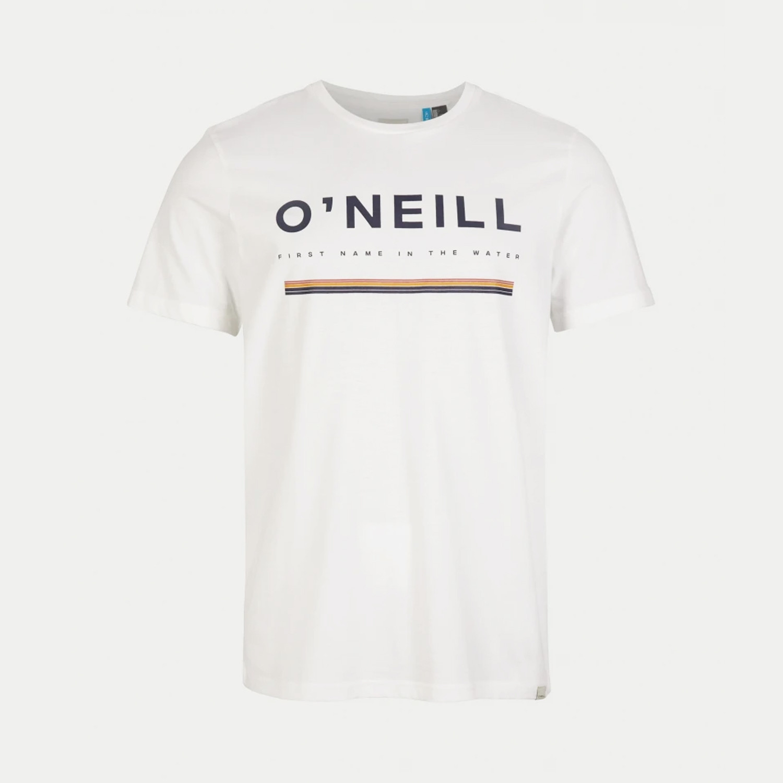 O/'Neill Mens Black Size LARGE Theme Logo Graphic Printed Crewneck Shirt Tee