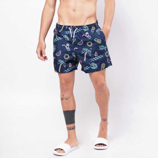 Brotherhood With Pattern Men's Swimsuit Shorts