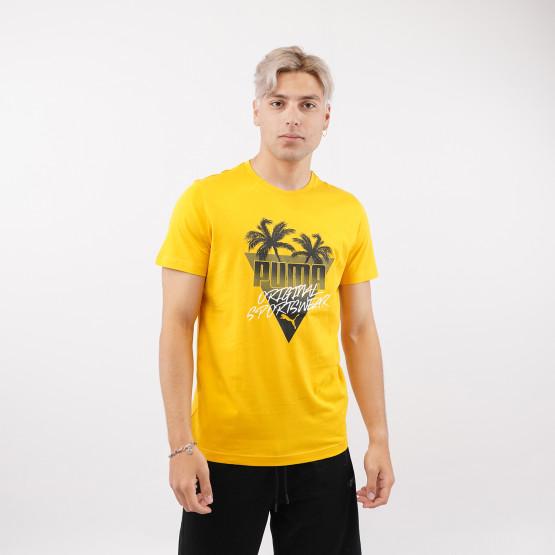 Puma Summer Palms Graphic Ανδρικό T-Shirt
