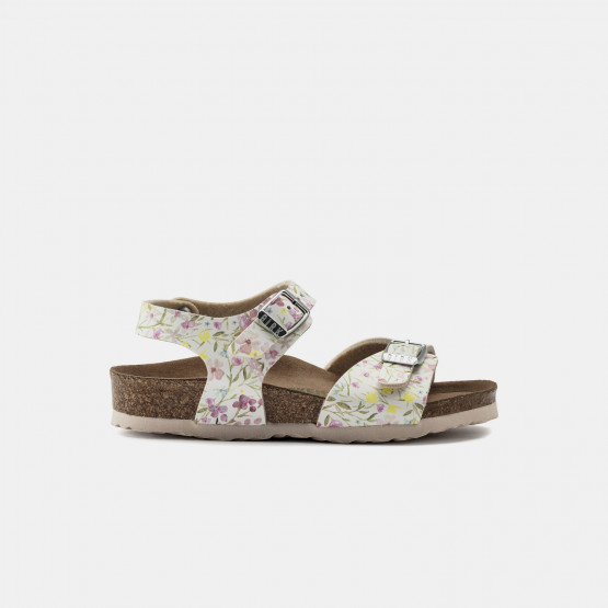 Birkenstock Bs Kids Rio Plain Watercolor Flower Wh