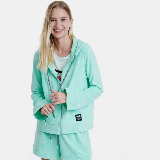 BodyTalk Short Loose Hooded Zip Women's Cardigan