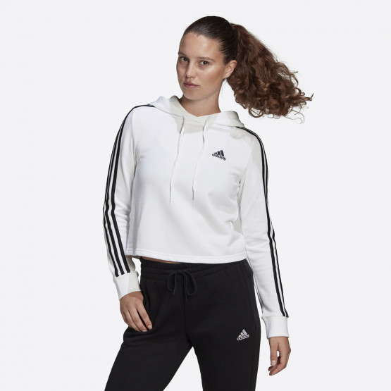 adidas Performance Essentials 3-Stripes Cropped Women's Hoodie