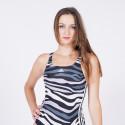 adidas Performance SH3.RO Animal Print 3-Stripes Women's One-Piece Swimsuit