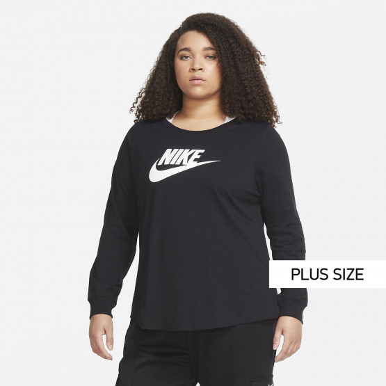 Nike Sportswear Essential Women's Plus Size T-shirt With Long Sleeves