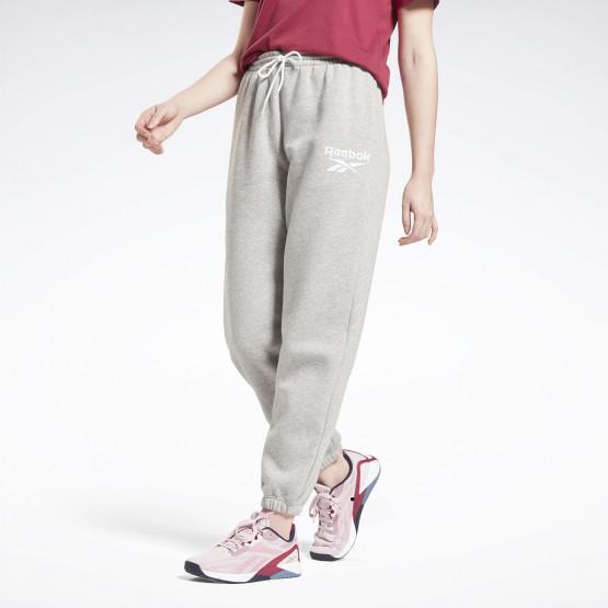 Reebok Identity Logo Fleece Γυναικείο Παντελόνι Φόρμας