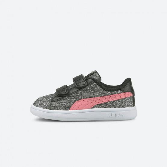 Puma Smash V2 Glitz Βρεφικά Παπούτσια