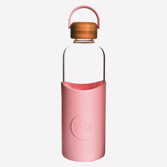 Neon Kactus Pink Flamingo Glass Water Bottle 1L