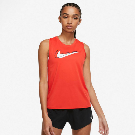 Nike Swoosh Γυναικεία Αμάνικη Μπλούζα για Τρέξιμο