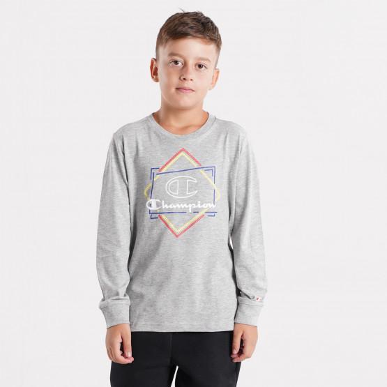 Champion Crewneck Kids'  Long Sleeve T-Shirt