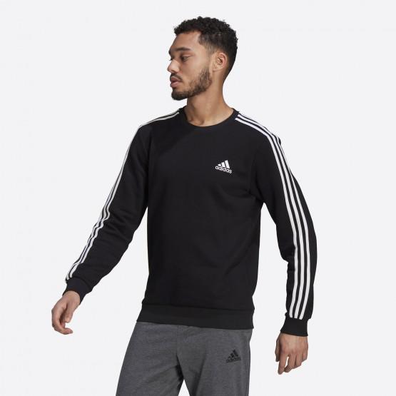 adidas Performance Essentials Fleece 3-Stripes Ανδρική Μπλούζα Φούτερ