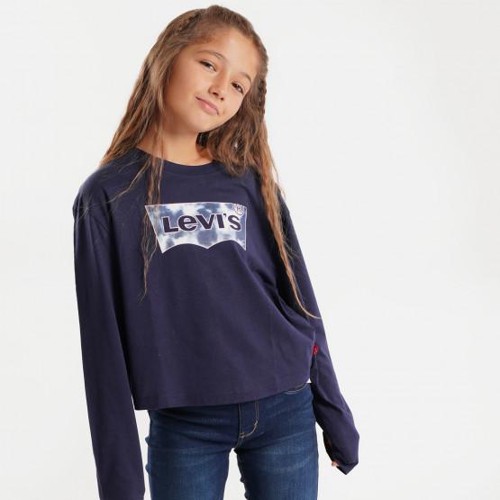 Levi's Cropped Παιδική Μπλούζα με Μακρύ Μανίκι
