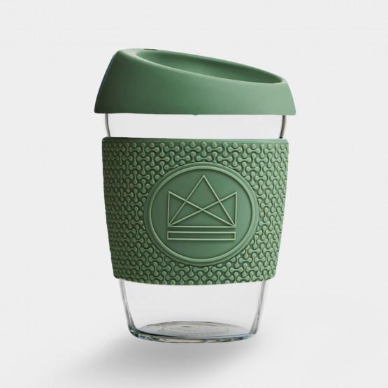 Neon Kactus Happy Camper  Glass Coffee Cups - 340ml