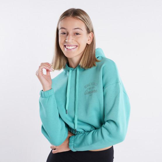 Target ''Awesome'' Γυναιεκία Copped Μπλούζα με Κουκούλα
