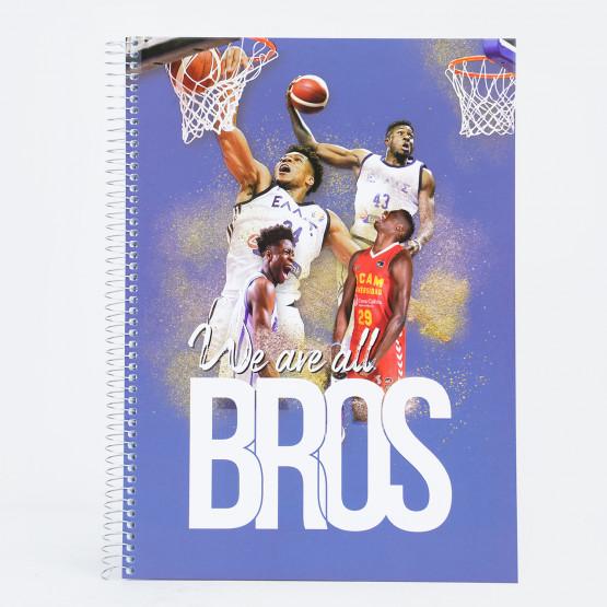 MVPublications Antetokounmpo 4 Subjects Spiral Notebook