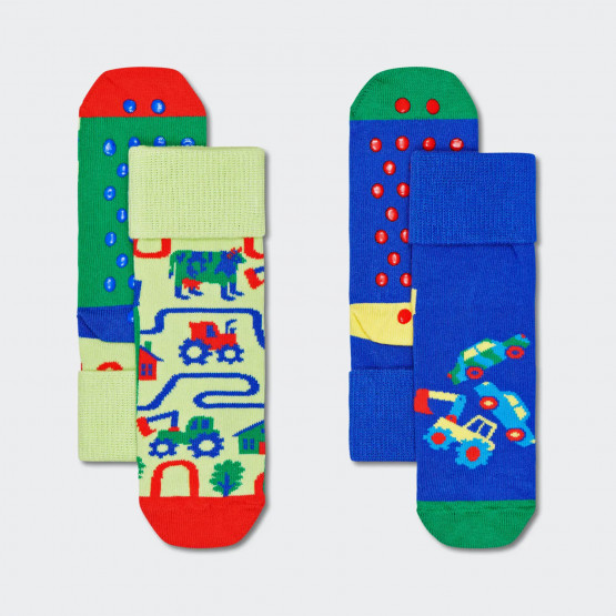 Happy Socks 2-Pack Kids Countryroads Anti Slip