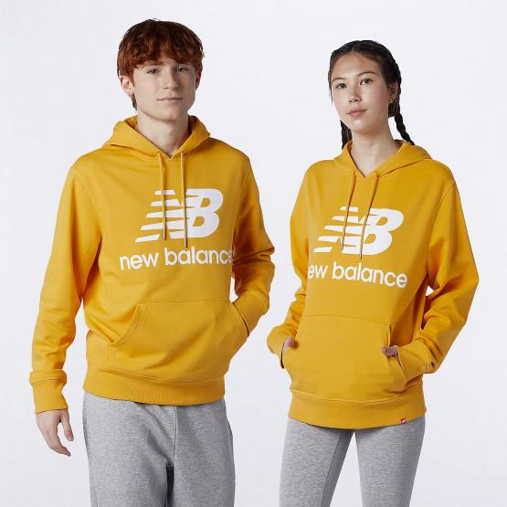 New Balance Essentials Stacked Logo Unisex Μπλούζα Με Κουκούλα