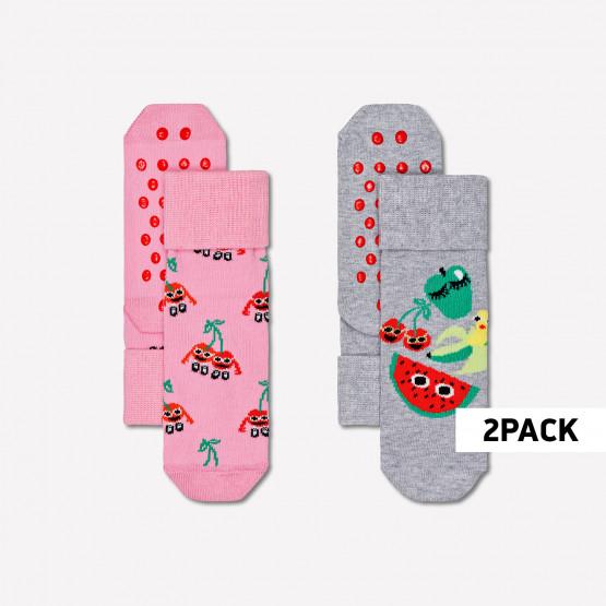 Happy Socks Fruit Mix Αντιολισθητικές Παιδικές Κάλτσες 2- Ζευγάρια