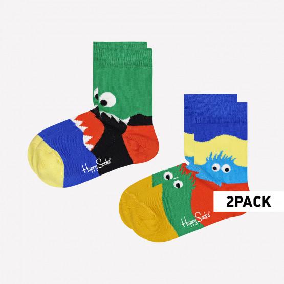 Happy Socks Monsters Παιδικές Κάλτσες 2-Pack