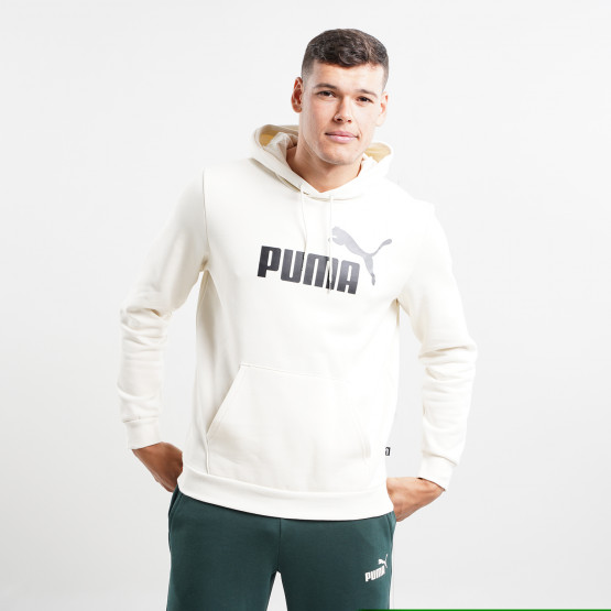 Puma ESS+ 2 Col Big Logo Fleece Ανδρική Μπλούζα με Κουκούλα