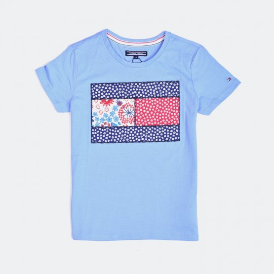 Tommy Jeans GIRLS FLOWER CN KNIT S/S