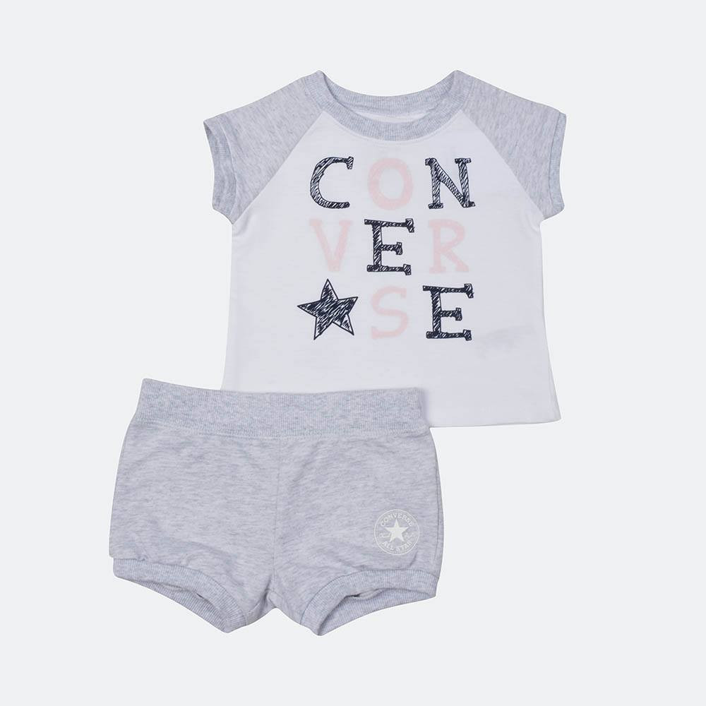 Converse Raglan Bubble Short Infant's Set