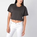Franklin & Marshall Jersey Round Neck Crop Top