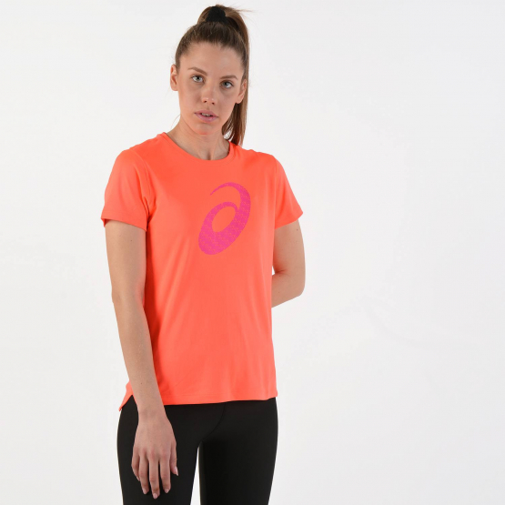 Asics Silver Graphic Short Sleeve Top - Γυναικείο Μπλουζάκι