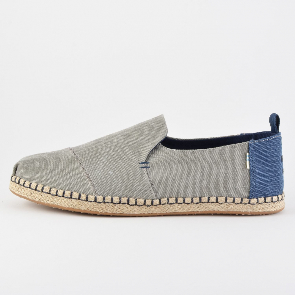 TOMS Washed Canvas Mens Deconstructed Alpargatas