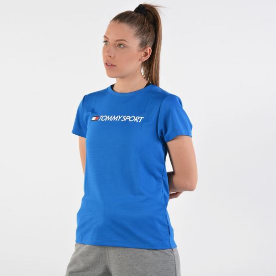 Tommy Sport Logo Chest Women's T-shirt - Γυναικεία Μπλούζα