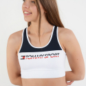 Tommy Sport Racerback Logo High Support Sports Bra