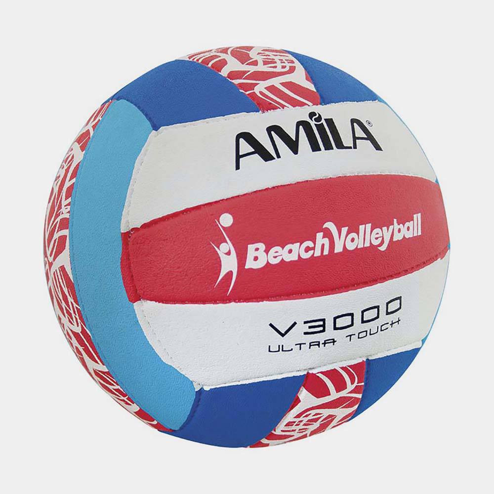 Amila Beach Volley Ball No5 White Blue Red 41638