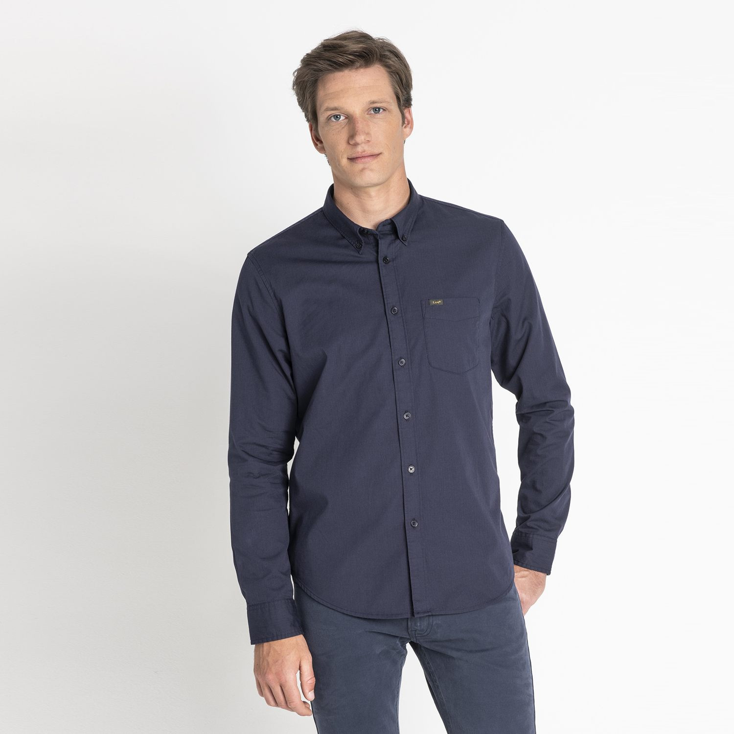Lee LEE BUTTON DOWN MIDNIGHT NAVY (9000037234_2749)
