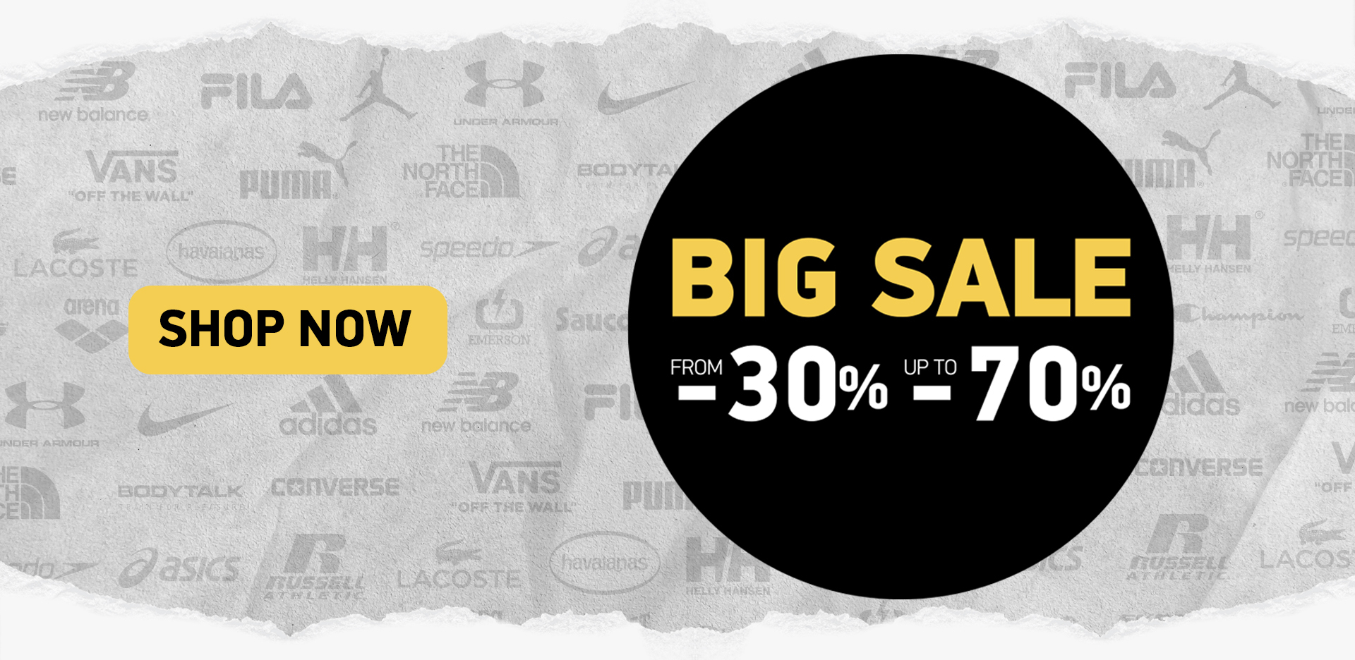 BIG Sale From -30% Up to -70%