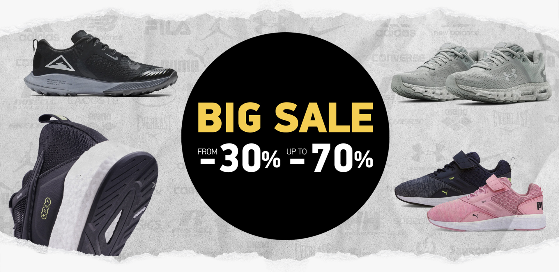 BIG Sale From-30% Up To -70%
