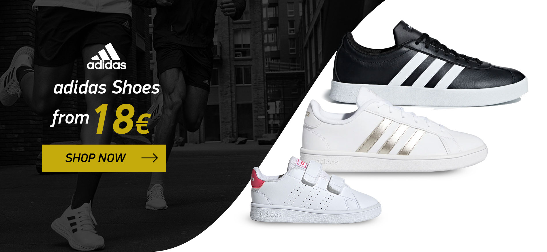 adidas shoes from 18€